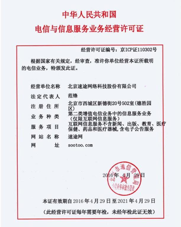 ICP证书
