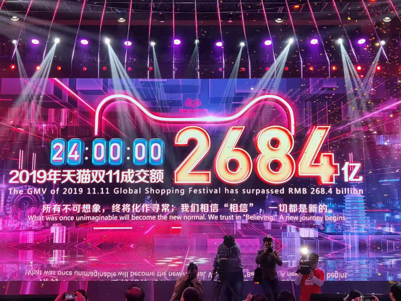 """019天猫双11全球狂欢节总成交额达2684亿,开启新消费时代!"""""""