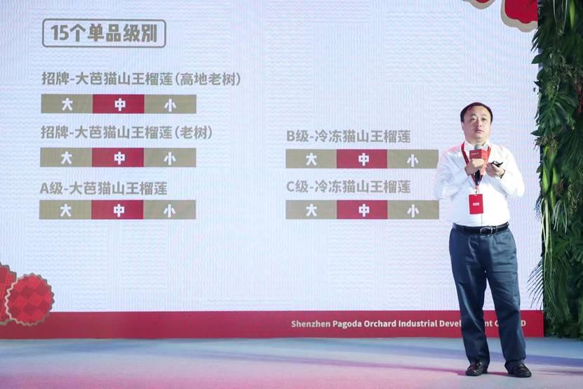 百果园2018年最新注册送现金猫山王榴莲标准,推出大芭猫山王品牌