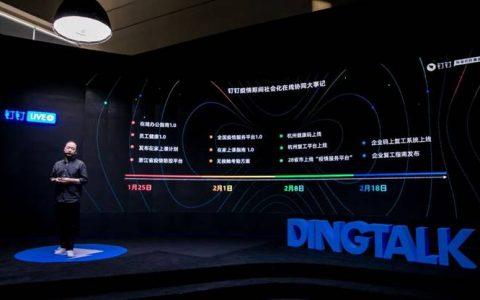 """阿里钉钉数字化抗疫:为1000万家企业组织提升""""免疫力"""""""