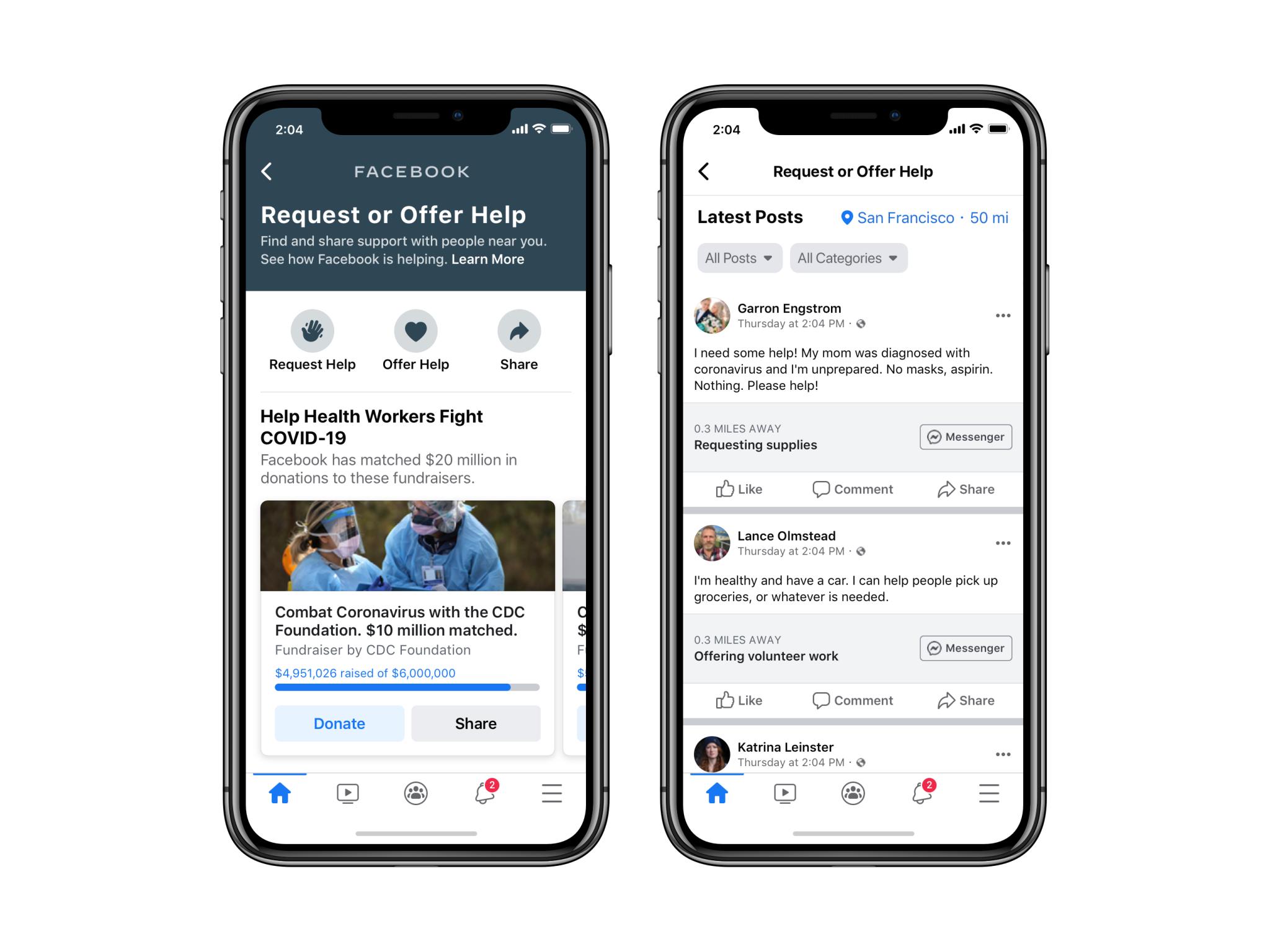 """Facebook推出""""寻求帮助""""功能,允许众筹捐款"""