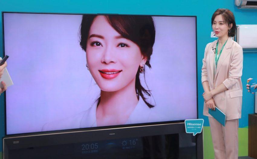 """陈数入职海信艺术体验官 现场成功挑战""""8k容颜"""""""
