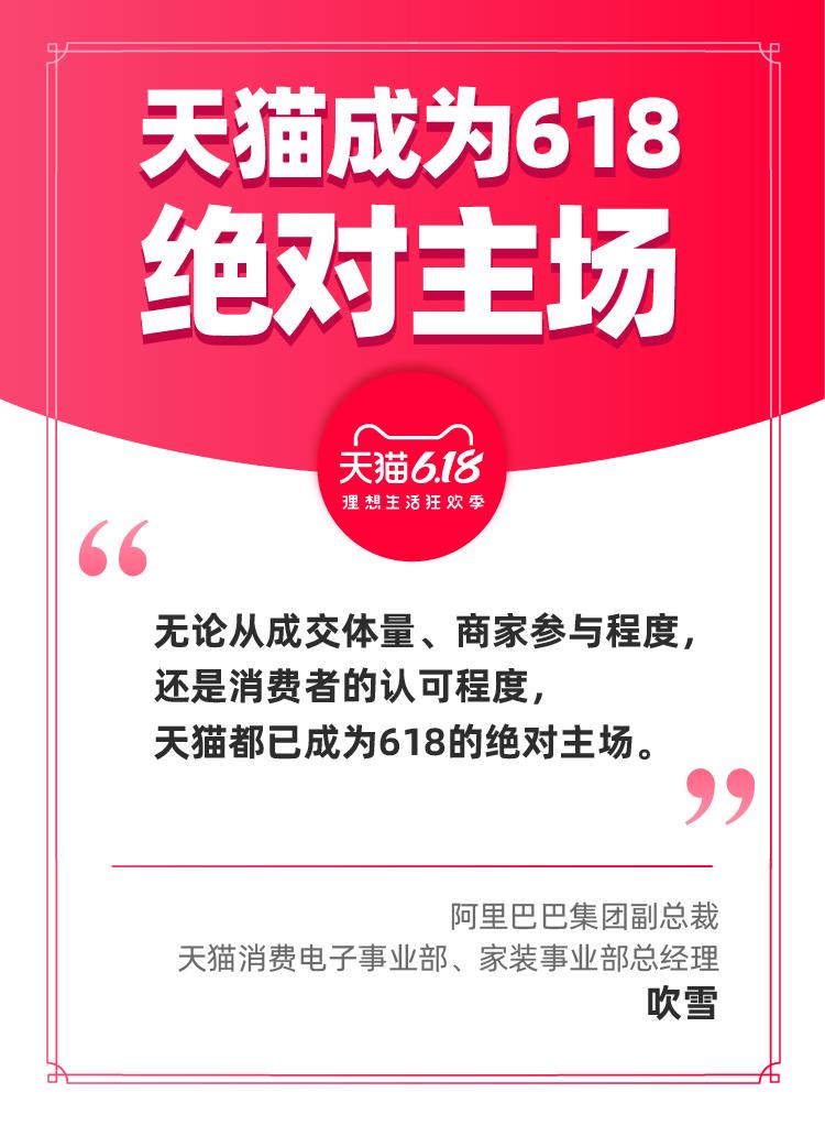 阿里巴巴集团副总裁吹雪:作为618主场,天猫更在意为合作伙伴创造未来