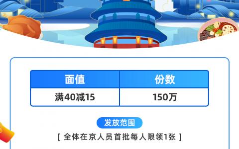北京市餐饮外卖消费券来了!首批19日10点饿了么等平台可抢