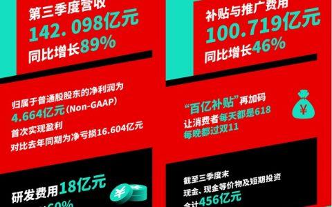 """拼多多财报首度盈利,百亿补贴将成高频场景增长""""润滑剂"""""""