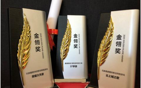 2020金翎奖评选结果出炉,三七互娱斩获三项大奖!