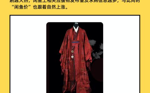 《山河令》温客行戏服22万元成交  闲鱼指数成影视剧热度新衡量标准